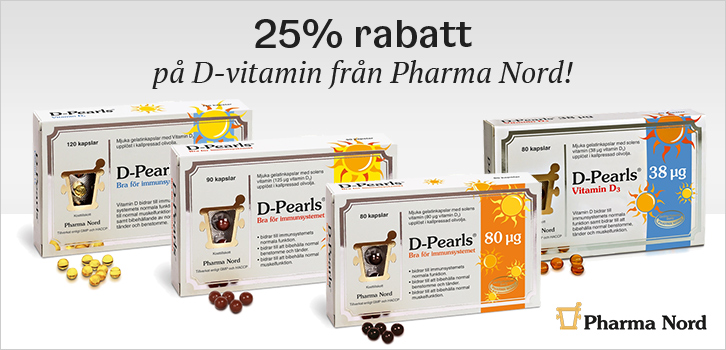 D-vitaminer - 25% rabatt!