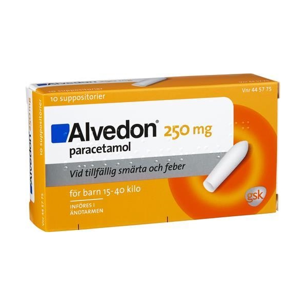 Alvedon suppositorium 250 mg (Läkemedel)