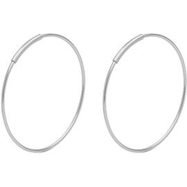 Medium Silver Creoles - Pilgrim - Örhängen  7d55c33a52ac1