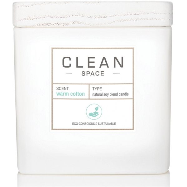 Clean Space Warm Cotton Scented Candle (Bild 1 av 4)