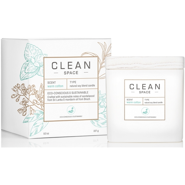 Clean Space Warm Cotton Scented Candle (Bild 2 av 4)