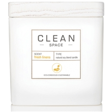 Clean Space Fresh Linens Scented Candle