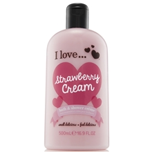 500 ml - Strawberry Cream Evolution Bath & Shower Crème