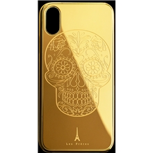 Les Fréres Golden Skull iPhone Case