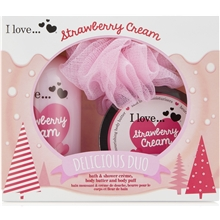 1 set - Strawberry Cream Takeaway Duo