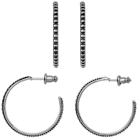 Silver Creole Earrings - Pilgrim - Örhängen  f30be1595f35b