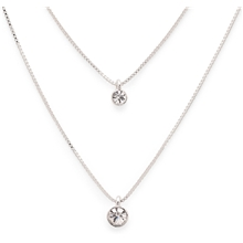 Lucia Double Crystal Necklace