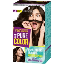 1 set - 4.0 Bare Dark Brown - Pure Color