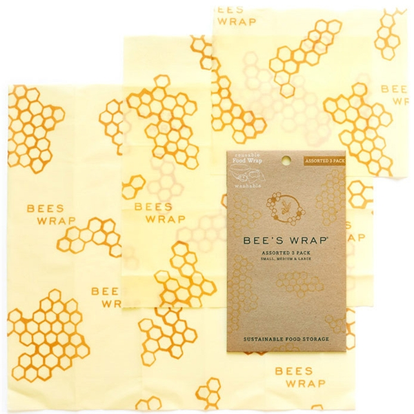 Bee's wrap Assorted Set of 3 Sizes (S, M, L) (Bild 1 av 8)