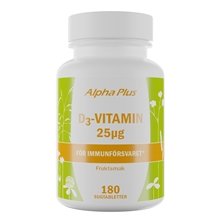 D3-vitamin 1000IE 180 tabletter
