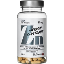 BioSalma Zink 25mg + C-vitamin & Nypon