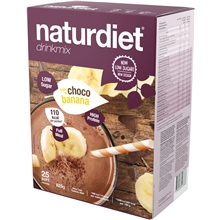 25 portioner - Chocolate-Banana - Naturdiet drinkmix
