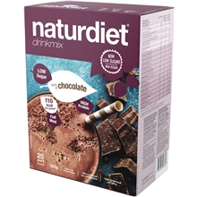 25 portioner - Chocolate - Naturdiet drinkmix