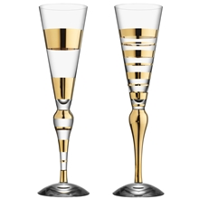 Clown Gold Champagneglas 2-pack