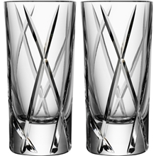 1 set - Klar - City shotglas 2-pack