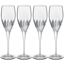 Diamante champagneglas 4-pack