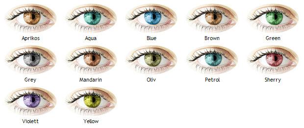 röda kontaktlinser utan styrka