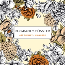 Målarbok Blommor & Mönster - Art Therapy