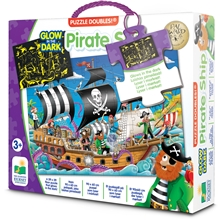 Puzzle Doubles Pirate Ship Glow in The Dark