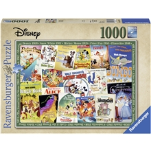 Pussel 1000 Bitar Disney Vintage Movie Post