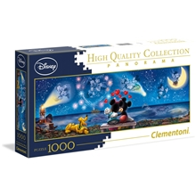 Pussel 1000 Bitar Panorama Mickey & Minnie