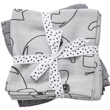 Done By Deer Burp Cloth 2-P Contour Grey