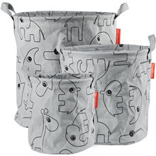 Done By Deer Storage Baskets Contour 3 PCS Grey