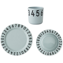 Design Letters Numbers Melamin Set Grön
