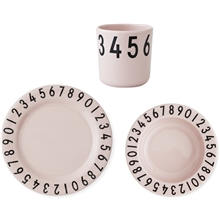 Design Letters Numbers Melamin Set Rosa
