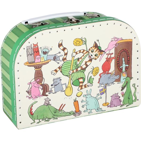 väska med liten gubbe på