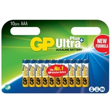 GP Batteries Ultra Plus AAA, 10-pack