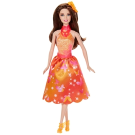 Barbie - Hemliga dörren docka orange - Barbie - Barbie  8b7aa3dd24166