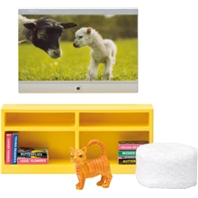 Lundby TV-set med sittpuffar