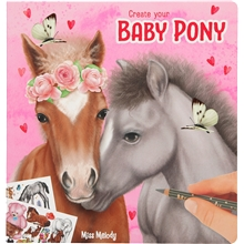 Miss Melody Målarbok Create Your Baby Pony