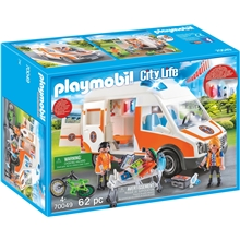 70049 Playmobil Ambulans med Blinkande Ljus