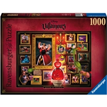 Pussel 1000 Bitar Villainous: Queen of Hearts