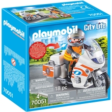 70051 Playmobil Ambulansmotorcykel