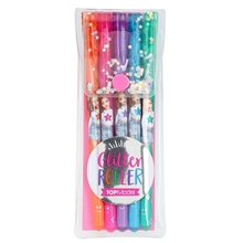 Top Model Glittergelpennor 5-pack