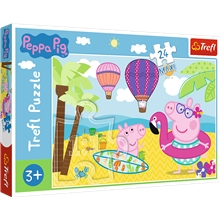 Pussel 24 Bitar Maxi Peppa's Holiday